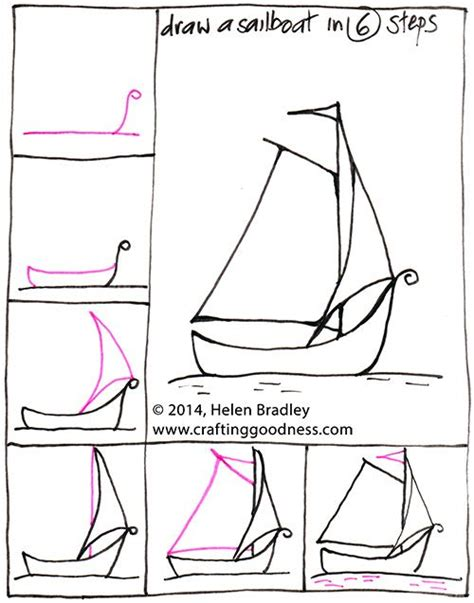 how to draw a boat step by step easy step by step how to draw a yacht or boat in 6 steps how