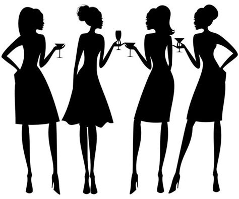 cocktail party silhouette chama women networking silhouette corporate chama