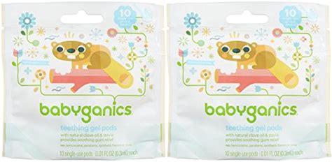 Babyganics Teething Gel Pods 10 Single Use babyganics benzocaine free gel teething pods 3 ml 10 ct 2 pk