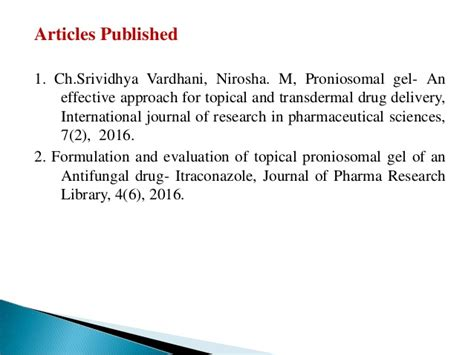 Itraconazole Ready formulation and evaluation of topical proniosomal gel of
