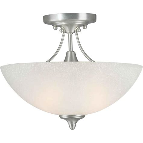 Semi Flush Mount Ceiling Light Brushed Nickel Talista Burton 2 Light Brushed Nickel Incandescent Ceiling Semi Flush Mount Cli Frt2378 02 55