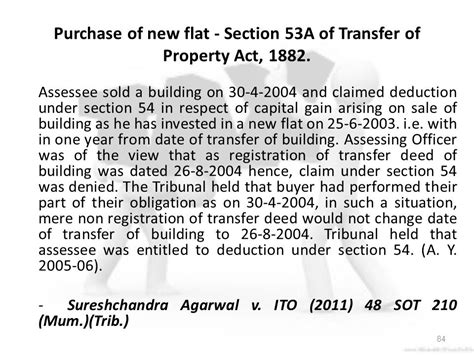 section 2 47 of income tax act analyzing the advance received against the sale of land by