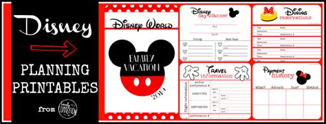 printable disney holiday planner disney planning printables free lovely commotion