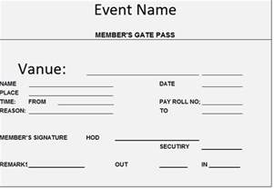 visitor pass template security gate pass format using excel manager s club