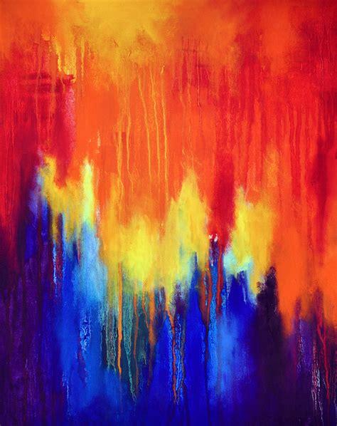 painting rainbow abstract artists international rainbow 4 original
