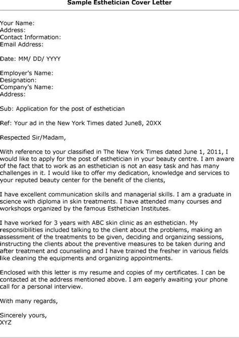 esthetician resume cover letter aesthetician resume cover letter http www resumecareer