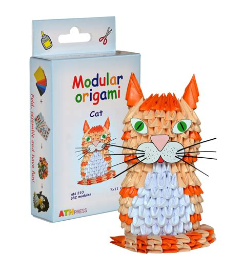 Origami 3d Cat - 3d origami modulars