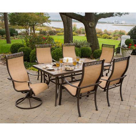 Shop Hanover Outdoor Furniture Monaco 7 Piece Tan Metal