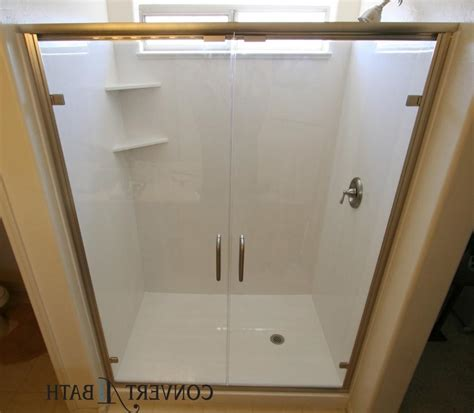 Watertec 301 White Jet Shower photos cultured marble bathrooms