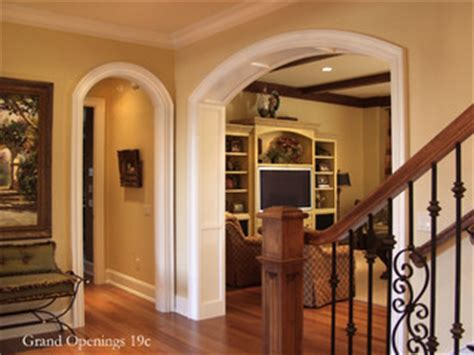 eyebrow arched cased opening unit traditional entry