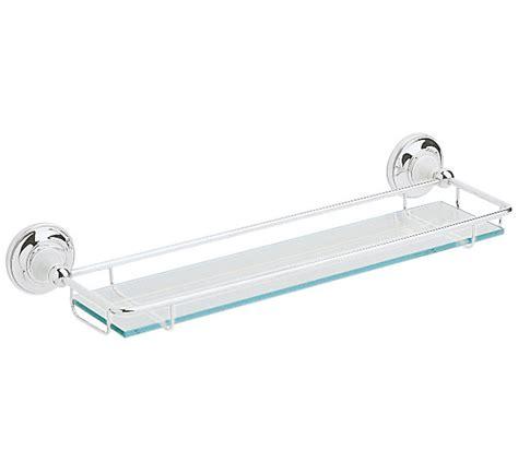 Heritage Clifton Glass Shelf Chrome Acc08 Chrome And Glass Bathroom Shelves