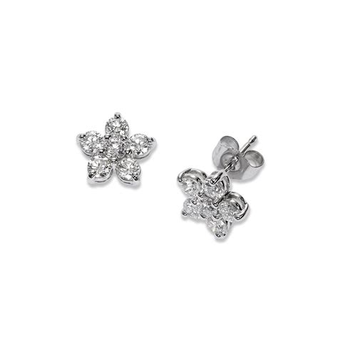 Flower Stud Earrings flower stud earrings 14k white gold
