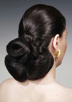 updo for thick neck thick silky and shiny a perfect bun long hair in