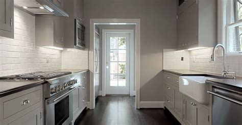gray paint for kitchen walls gray galley kitchen contemporary kitchen elizabeth