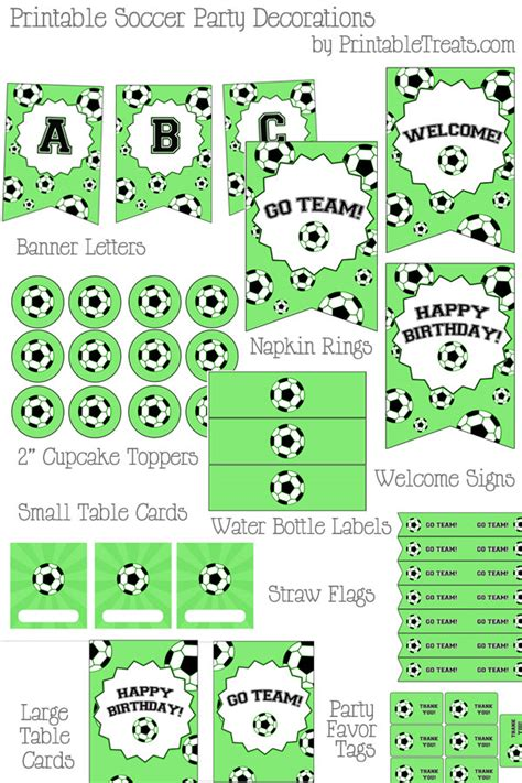 free printable soccer party decorations printable soccer party decorations printable treats com