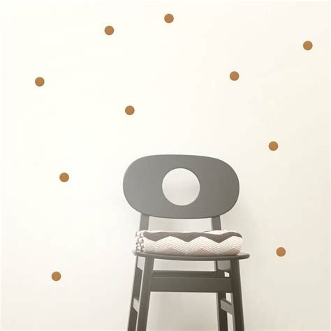 ferm living wall stickers ferm living wall stickers dots mini vinyl copper 54 pieces lefliving
