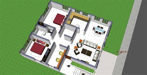 2 Family House Plans small house plan 1008 homeplansindia
