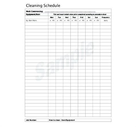bathroom cleaning schedule form cleaning schedule free
