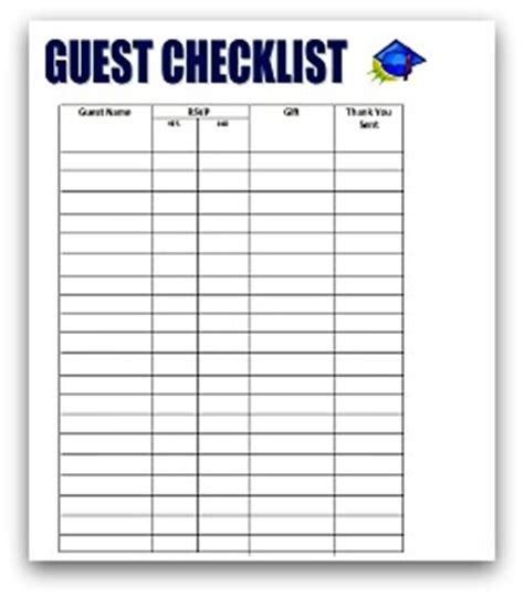 graduation checklist template graduation planning