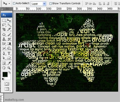 how to create image inside text effect in photoshop