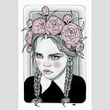 Wednesday Addams Drawing   600 x 907 jpeg 195kB
