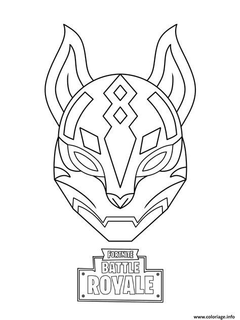 Coloriage Drift Ultimate Mask Fortnite dessin