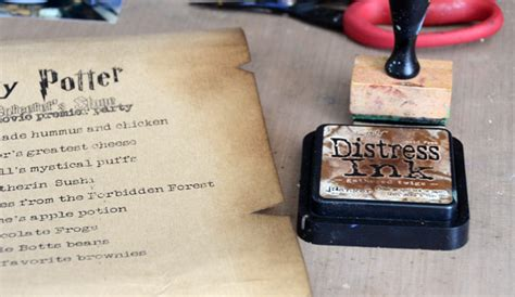 Paper Look With Coffee - harry potter menu sign