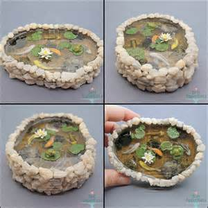 Lily Pads For Ponds Commission Miniature Stone Pond With 5 Koi By Bon