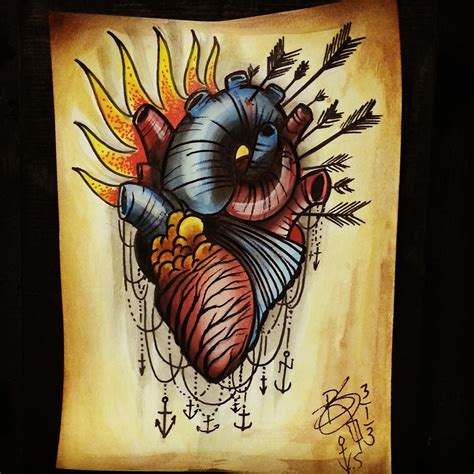 tattoos by brent senkbeil neo traditional tattoo flash