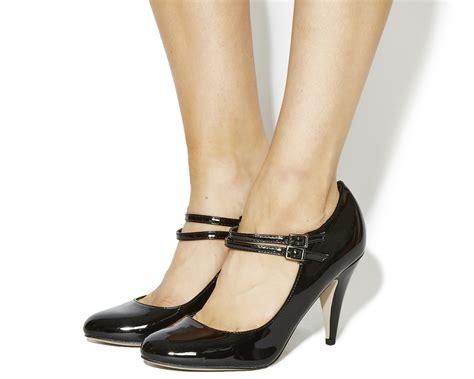 Office Heels 9cm office quizzical janes black patent