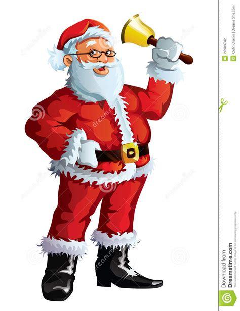 santa claus waving a bell stock photography image 20903742