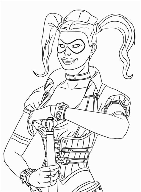 Suicide Squad Coloring Pages Best Coloring Pages For Kids Squad Coloring Page