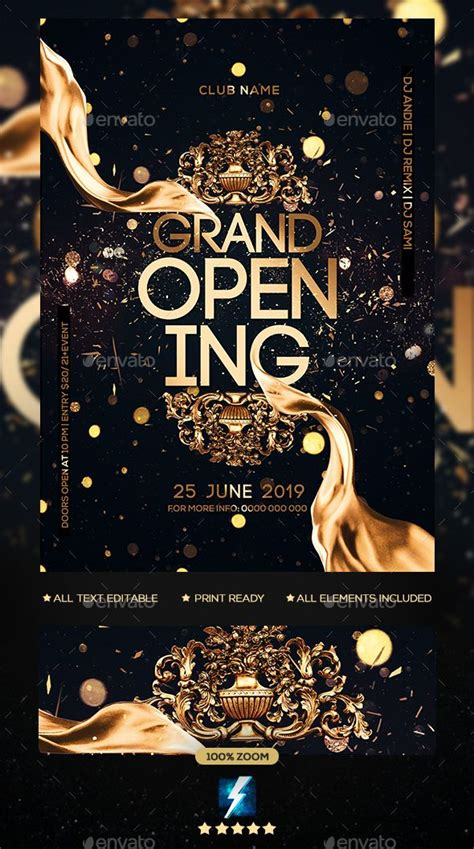 grand opening party flyer grand opening party grand opening invitations party flyer
