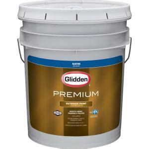 glidden premium 5 gal satin exterior paint gl6911 05 the home depot