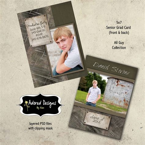 graduation templates for photoshop 96 best images about senior graduation announcements card