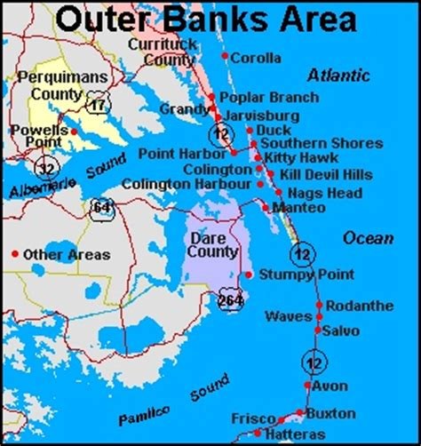 obx map outer banks map the outer banks carolina maps the