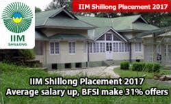 Iim Distance Learning Mba Placements by Iim Shillong Placement 2017 Marks High Average Salary Of