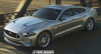 Pictures Of Ford Mustangs 2018 Ford Mustang Sedan Takes A Fictitious Swing At Dodge