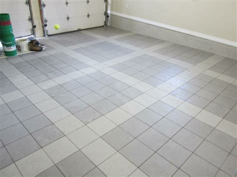 with these garage floor tiles made of porcelain everything runs smooth fresh design pedia