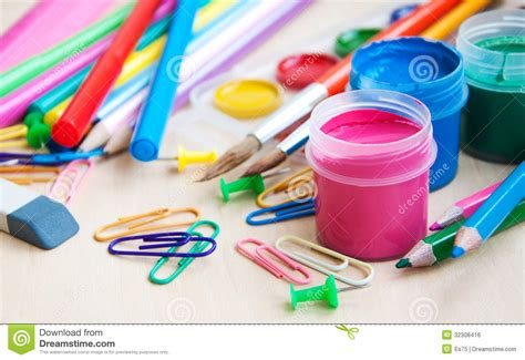 colorful office school supplies royalty free stock image office or school supplies royalty free stock image image