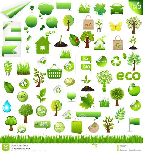 eco design elements vector collection eco design elements vector royalty free stock