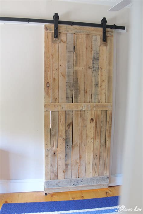 make barn door diy pallet sliding barn door lehman