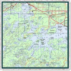eagle lake canada map map of eagle lake