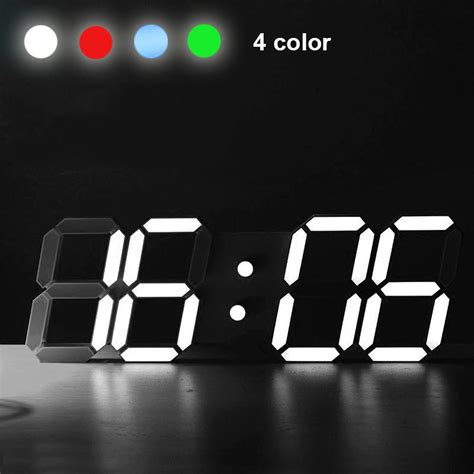 modern digital desk clock modern digital led table desk wall clock alarm