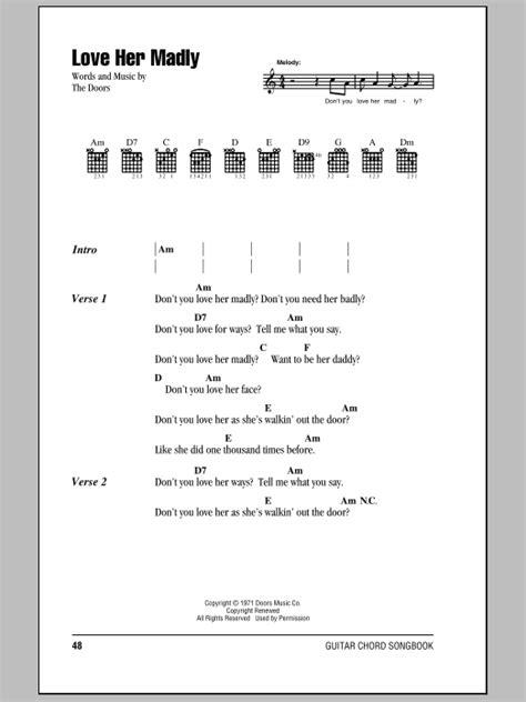The Doors Madly Lyrics madly sheet direct