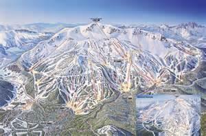 Mammoth mountain map map of mammoth mountain ski area resort
