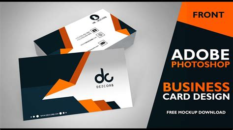 Front And Back Business Card Template Photoshop by Business Card Design In Photoshop Cs6 Front Photoshop