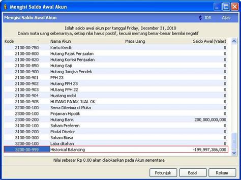 tutorial program zahir zahir accounting tutorial historical balancing
