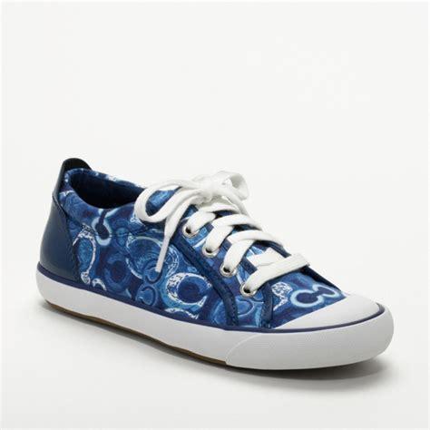 coach sneakers coach barrett poppy sneaker in blue lyst