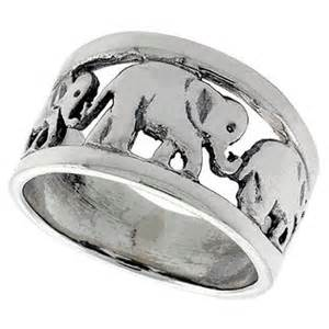 sabrina silver sterling silver linked elephants ring
